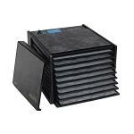 Excalibur 9-tray Food Dehydrator, No Timer, Black, Solid Door