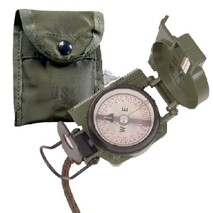 Compass, GI Lensatic with Pouch